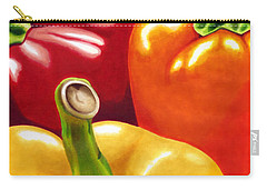 Rainbow Of Peppers Carry-all Pouch