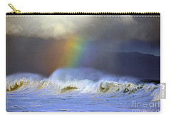 Rainbow On The Banzai Pipeline At The North Shore Of Oahu Carry-all Pouch