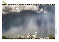 Rainbow Over Charlotte Carry-all Pouch by Chris Austin