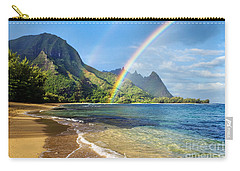 Rainbow Over Haena Beach Carry-all Pouch