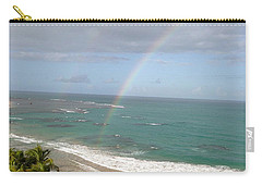 Carry-all Pouch featuring the photograph Rainbow Over Palms by The Art of Alice Terrill