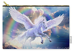 Rainbow Pegasus Carry-all Pouch by Jan Patrik Krasny
