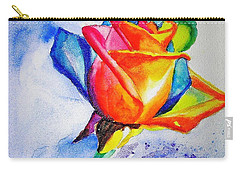 Rainbow Rose Carry-all Pouch by Carlin Blahnik