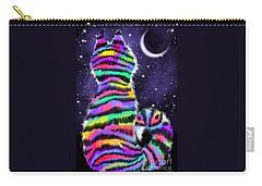 Rainbow Tiger Cat Carry-all Pouch