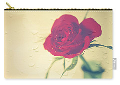 Raindrops On Roses . . . Carry-all Pouch by Jan Bickerton