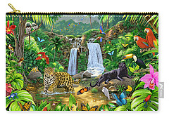 Rainforest Harmony Variant 1 Carry-all Pouch by Chris Heitt