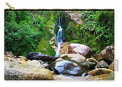 Carry-all Pouch featuring the photograph Rainforest Stream New Zealand by Amanda Stadther