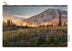 Rainier Golden Light Sunset Meadows Carry-all Pouch