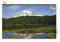 Carry-all Pouch featuring the photograph Rainier's Reflection by Tikvah's Hope