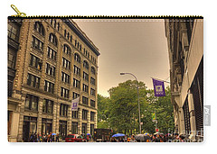 Raining At Nyu Carry-all Pouch by David Bearden