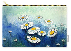 Rainy Daisies Carry-all Pouch