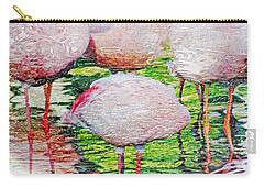 Rainy Day Flamingos 2 Carry-all Pouch
