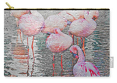 Rainy Day Flamingos Carry-all Pouch
