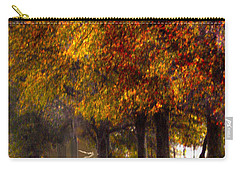 Carry-all Pouch featuring the photograph Rainy Day Path by Lesa Fine