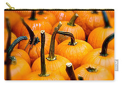 Carry-all Pouch featuring the photograph Rainy Day Pumpkins by Ira Shander