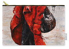 Rainy Day - Red And Black #2 Carry-all Pouch