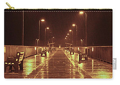 Rainy Night On The Pier Carry-all Pouch