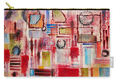 Carry-all Pouch featuring the painting Rainy Panes by Jason Williamson