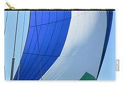 Raising The Blue And Green Sail Carry-all Pouch