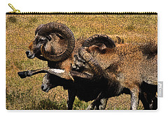 Carry-all Pouch featuring the photograph Rams At Half-time by Doc Braham