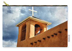 Rancho De Taos Bell Tower And Cross Carry-all Pouch