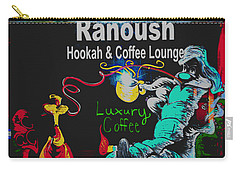 Ranoush Painted Carry-all Pouch by Kelly Awad