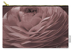 Carry-all Pouch featuring the photograph Ranunculus Red by Jean OKeeffe Macro Abundance Art