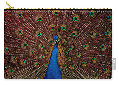 Carry-all Pouch featuring the photograph Rare Pink Tail Peacock by Eti Reid