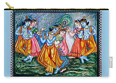 Carry-all Pouch featuring the painting Ras Leela by Harsh Malik
