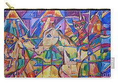Carry-all Pouch featuring the painting Rasca On Horsey At Ucrane Pyramids by Dianne  Connolly