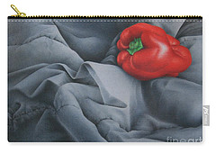 Carry-all Pouch featuring the painting Rather Red by Pamela Clements