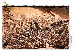 Rattlesnake Up Close And Personal Carry-all Pouch