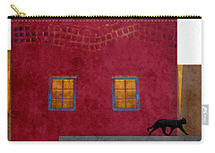 Raven And Cat Carry-all Pouch by Carol Leigh