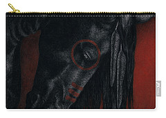 Carry-all Pouch featuring the painting Raven Wing by Pat Erickson