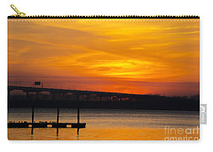 Carry-all Pouch featuring the photograph Orange Blaze by Dale Powell