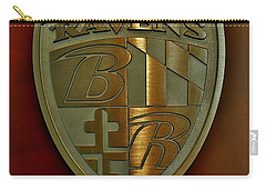 Ravens Coat Of Arms Carry-all Pouch by Robert Geary