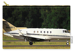 Flight Carry-all Pouch featuring the photograph Raytheon Hawker 800xp by Aaron Berg