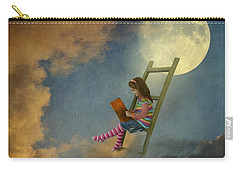Reading At Moonlight Carry-all Pouch