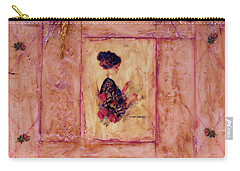 Carry-all Pouch featuring the photograph Reading The Letter by Sandra Foster