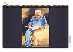 Reading Time Carry-all Pouch by Kathy Braud