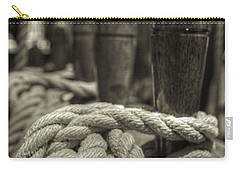 Ready For Work Black And White Sepia Carry-all Pouch