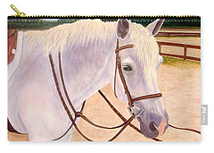 Carry-all Pouch featuring the painting Ready To Ride by Karen Zuk Rosenblatt
