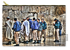 Carry-all Pouch featuring the photograph Real Homeland Security In Israel by Doc Braham