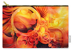 Rebirth - Phoenix Carry-all Pouch by Hailey E Herrera