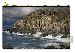 Carry-all Pouch featuring the photograph Receding Storm At Gulliver's Hole by Marty Saccone