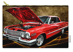 Red '63 Impala Carry-all Pouch by Victor Montgomery