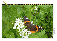 Carry-all Pouch featuring the photograph Red Admiral Butterfly by Lingfai Leung