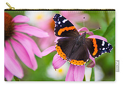 Carry-all Pouch featuring the photograph Red Admiral Butterfly by Patti Deters