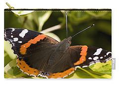 Red Admiral Butterfly Carry-all Pouch by Richard Thomas