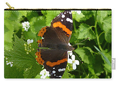 Carry-all Pouch featuring the photograph Red Admiral In Toronto by Lingfai Leung